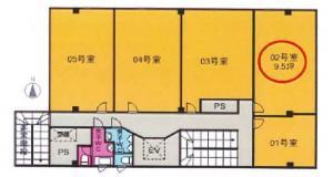 恒和殖産福島ビル基準階間取り図
