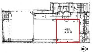 辰野本町ビル基準階間取り図