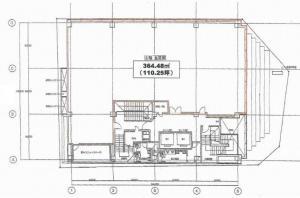 MID西本町ビル基準階間取り図