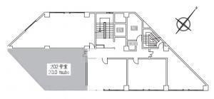 若杉ビル2階間取り図