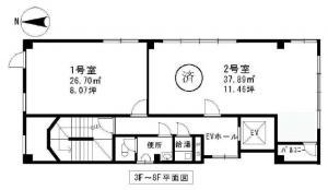 新大阪龍馬ビルⅠ基準階間取り図