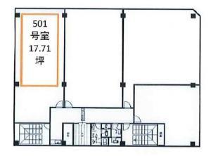 ノース四ツ橋ビル501号室間取り図
