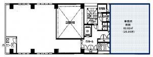 平野町KIビル4階間取り図