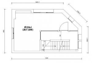 マルカビル4階間取り図