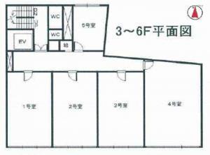 DKビル基準階間取り図