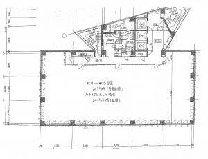 淀川5番館ビル基準階間取り図