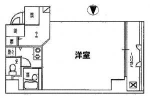 ディアコート船場(ディアコートセンバ)1号室間取り図