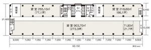 北阪急ビル基準階間取り図