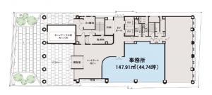 大阪堂島ビル1階間取り図