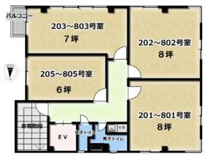 YS新大阪ビル基準階間取り図
