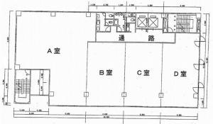 エサカ中央ビル基準階間取り図