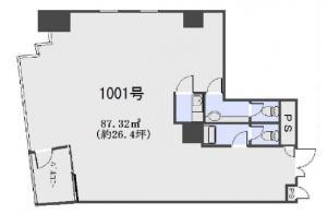 EHH大手前ビル10階間取り図