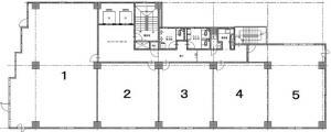 本町DSビル基準階間取り図