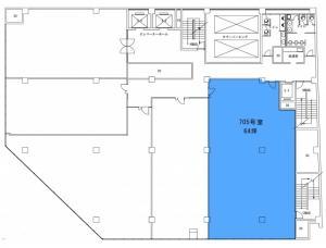 四ツ橋ビルディング7階間取り図