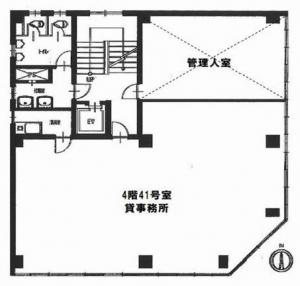 横井第7ビル4階間取り図