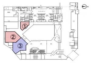 大阪第一生命ビルディング地下階間取り図