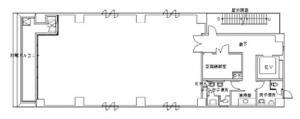 国元高麗橋ビル基準階間取り図