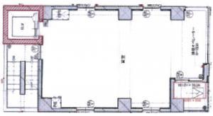 reA bldg基準階間取り図