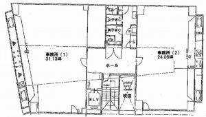江坂淀ビル基準階間取り図