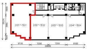 朝日生命辰野ビル2階間取り図