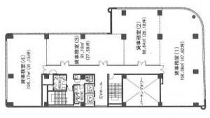 本丸田ビル基準階間取り図