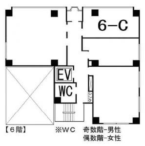 新町新興産ビル6階間取り図