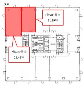 LUCID SQUARE UMEDA(ルーシッドスクエア梅田)7階間取り図