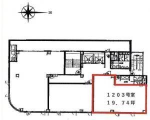 リプロ財宝ビル12階間取り図