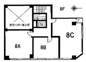 四ツ橋日生ビル別館8階間取り図