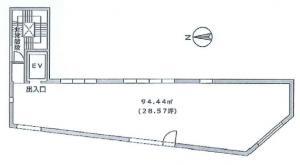 ミッドスクエア堀江(MIDSQUARE HORIE)ビル3階間取り図