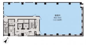 JPR心斎橋ビル基準階間取り図