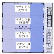 ORIX高麗橋ビル基準階間取り図
