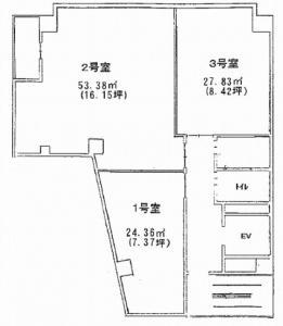 太融寺ビル基準階間取り図