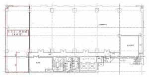 日本生命梅田第2ビル6階間取り図