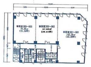 今川ビル基準階間取り図