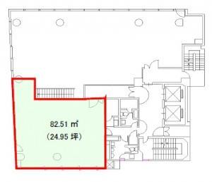 徳島ビル2階間取り図