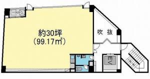 ミツフ第3ビル基準階間取り図