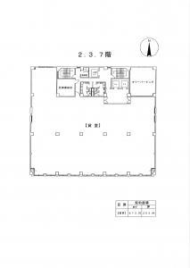 平野町センチュリービル基準階間取り図