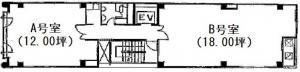 中川ビル基準階間取り図