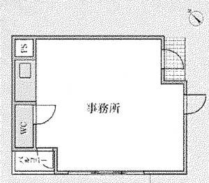 大阪宝石センタービル基準階間取り図