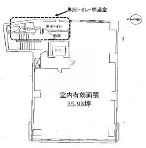 江戸堀グロウスビル基準階間取り図