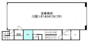 岡地ビル5階間取り図