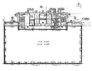 クラボウアネックスビル基準階間取り図