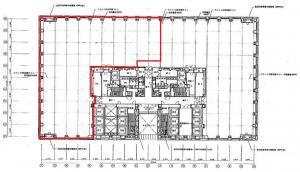 中之島セントラルタワービル4階間取り図