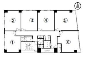 第12新興ビル基準階間取り図