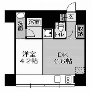 北浜コンソールビル基準階間取り図