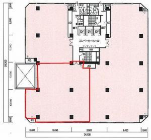 パシフィックマークス肥後橋ビル8階間取り図