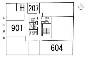 新町ビル基準階間取り図