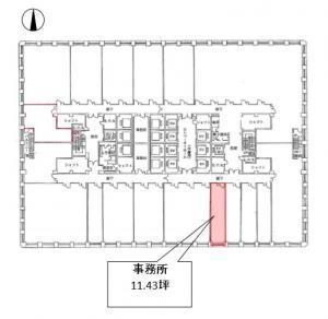大阪駅前第3ビル7階間取り図