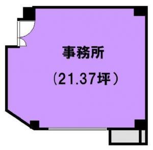 難波シーサータワービル2階間取り図